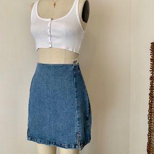 Brandy Melville denim cara mini skirt NWT